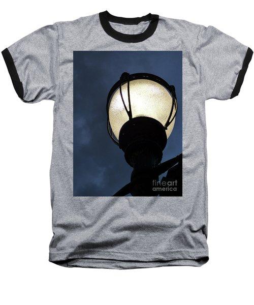 Street Lamp At Night Baseball T-Shirt