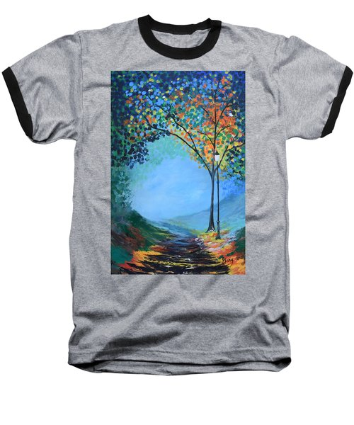 Baseball T-Shirt featuring the painting Street Lamp by Gary Smith