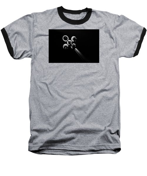 Street Light Baseball T-Shirt by Kevin Cable