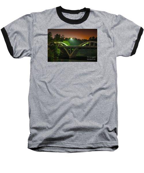 Street Light On Rogue River Bridge Baseball T-Shirt by Jerry Cowart