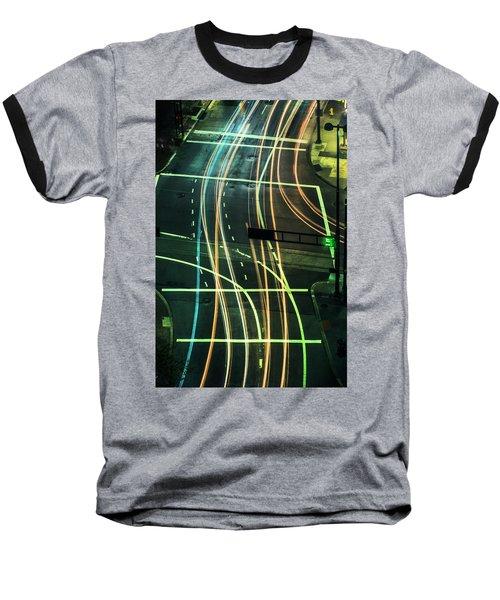 Street Lights Baseball T-Shirt by Scott Meyer