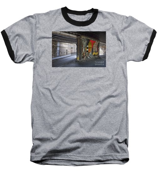 Street Scene - Edinburgh Baseball T-Shirt by Amy Fearn