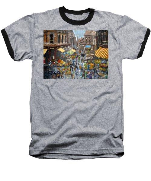 Street Scene Market Baseball T-Shirt