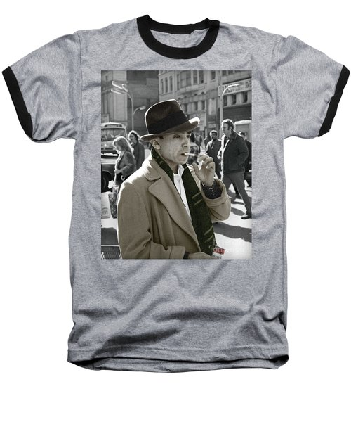Baseball T-Shirt featuring the photograph Street Smoking Man by Martin Konopacki