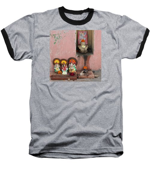 Street Temple, Haridwar Baseball T-Shirt by Jennifer Mazzucco
