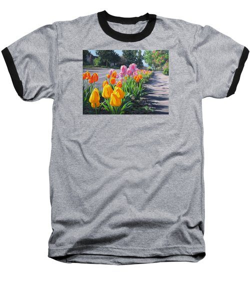 Street Tulips Baseball T-Shirt
