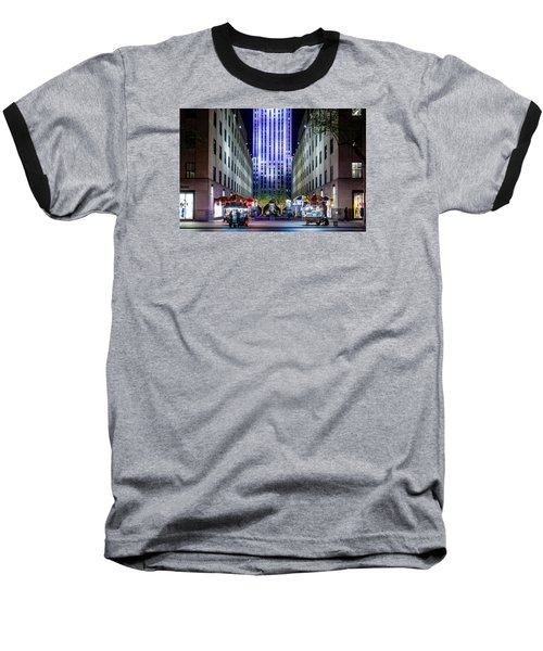 Baseball T-Shirt featuring the photograph Rockefeller Center by M G Whittingham