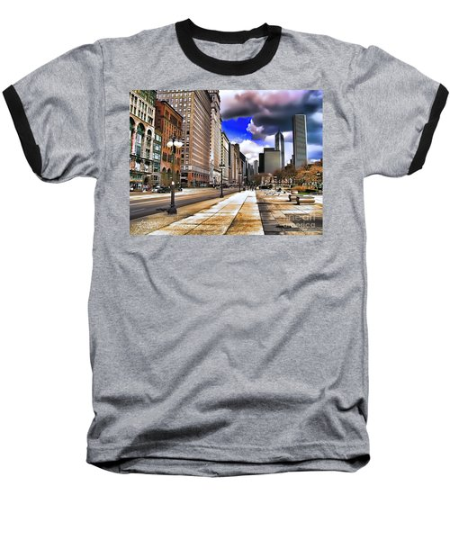 Streets Of Chicago Baseball T-Shirt
