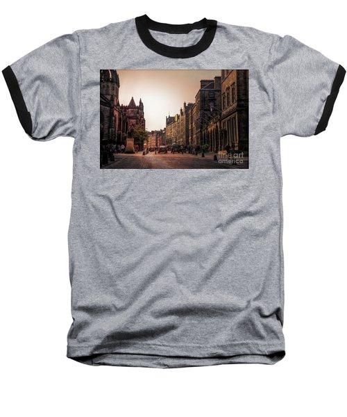 Streets Of Edinburgh Scotland  Baseball T-Shirt
