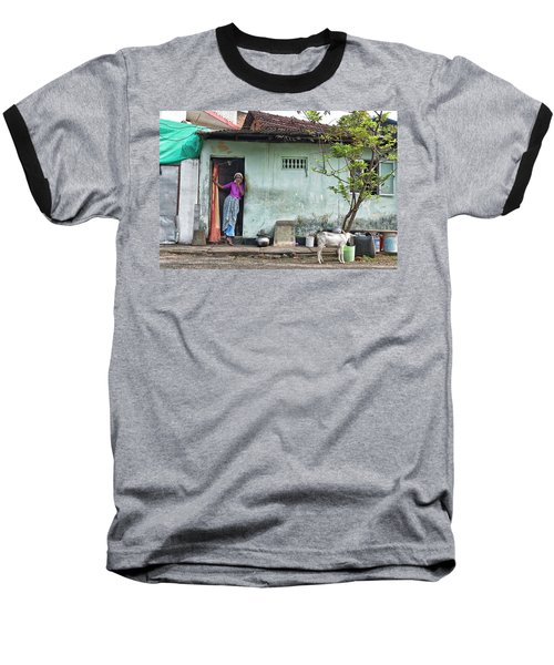 Baseball T-Shirt featuring the photograph Streets Of Kochi by Marion Galt