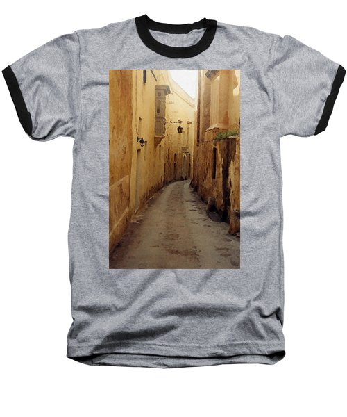 Baseball T-Shirt featuring the photograph Streets Of Malta by Debbie Karnes
