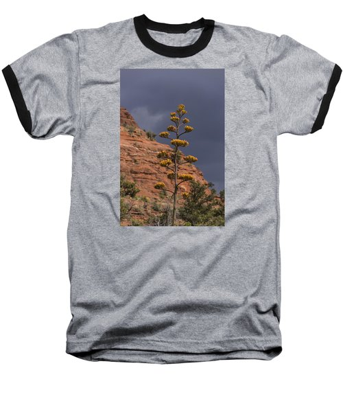 Baseball T-Shirt featuring the photograph Stretching Into A Threatening Sky by Laura Pratt