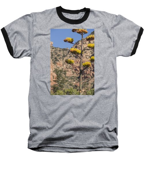 Stretching Tall Baseball T-Shirt by Laura Pratt