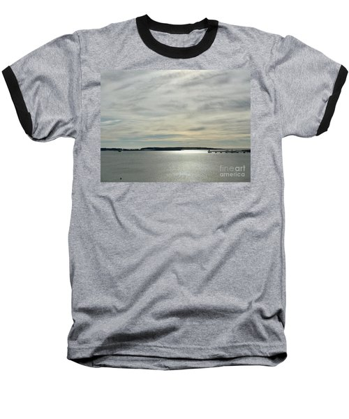 Striated Sky Over Casco Bay Baseball T-Shirt