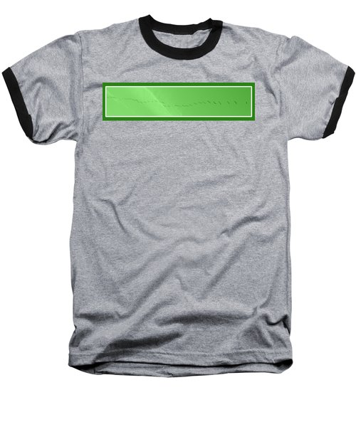 String Of Birds In Green Baseball T-Shirt