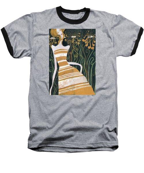 Baseball T-Shirt featuring the painting Stripe Dress by Maya Manolova