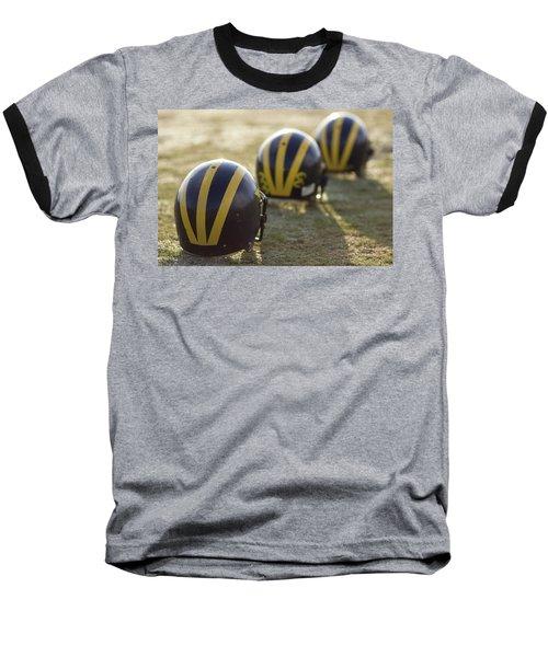 Striped Helmets On A Yard Line Baseball T-Shirt