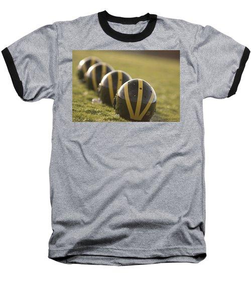 Striped Helmets On Yard Line Baseball T-Shirt