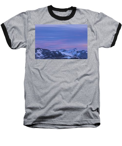 Striped Sky At Day's End Baseball T-Shirt