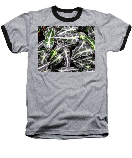 Baseball T-Shirt featuring the photograph Stripes And Droplets by Lynda Lehmann