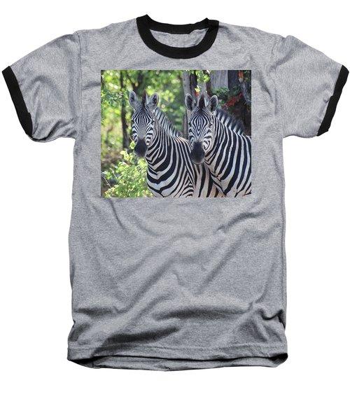 Stripes And Ovals Baseball T-Shirt by Bruce W Krucke