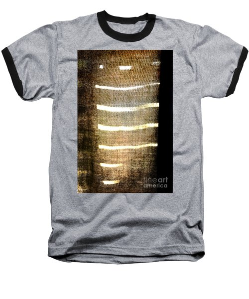 Stripes And Texture Baseball T-Shirt