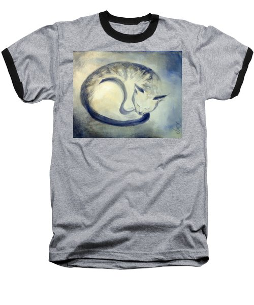 Stripey Cat 3 Baseball T-Shirt