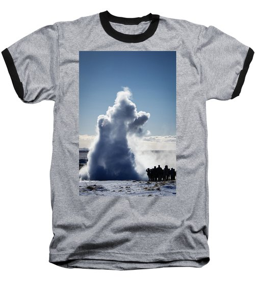 Baseball T-Shirt featuring the photograph Strokkur Geyser In Iceland by Matthias Hauser