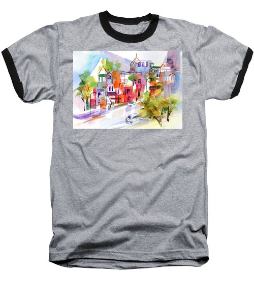Stroll In Montreal Baseball T-Shirt by Betty M M Wong