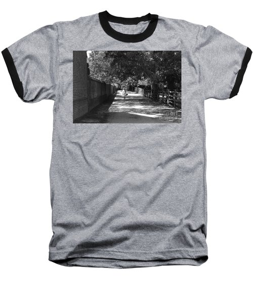 Stroll To Store Baseball T-Shirt by Eric Liller