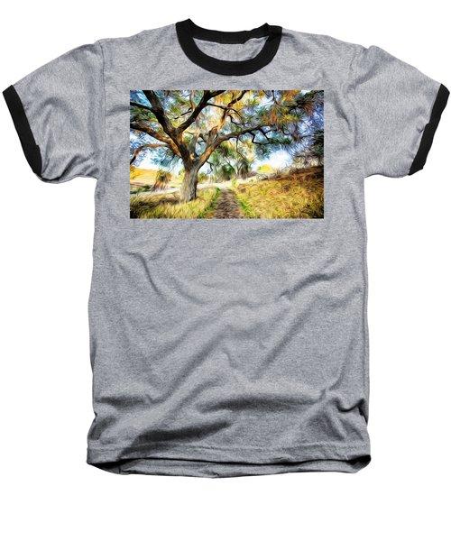 Strolling Down The Path Baseball T-Shirt by Carol Crisafi