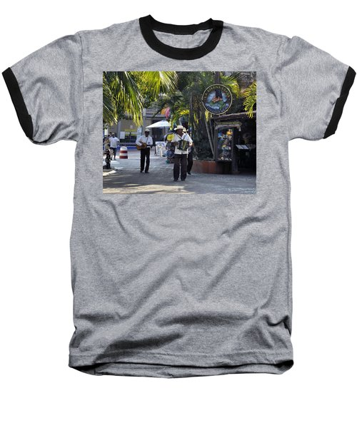 Strolling Musicians Baseball T-Shirt by Jim Walls PhotoArtist