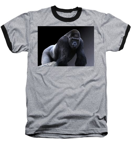 Strong Male Gorilla Baseball T-Shirt
