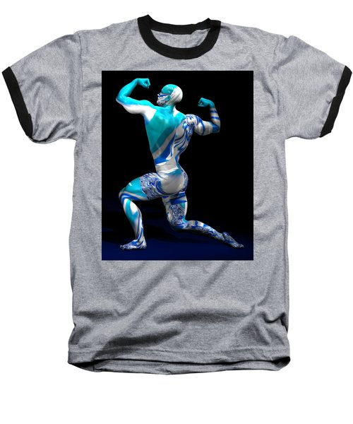 Male Model Studio Man Render 12 Baseball T-Shirt