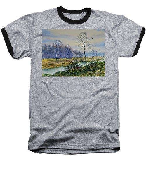 Stream In Flood On Strensall Common Baseball T-Shirt