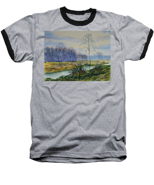 Stream In Flood On Strensall Common Baseball T-Shirt