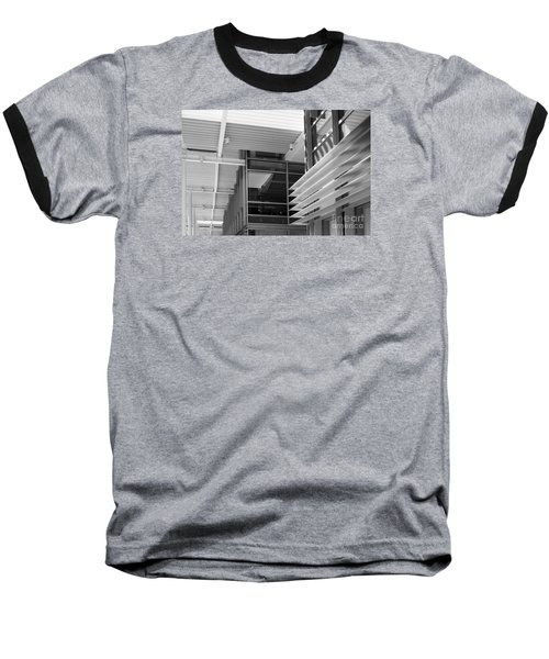 Structure Abstract 1 Baseball T-Shirt by Cheryl Del Toro