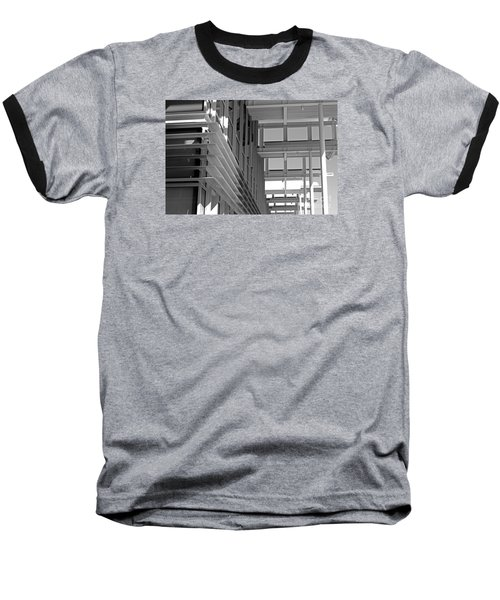 Structure Abstract 2 Baseball T-Shirt by Cheryl Del Toro