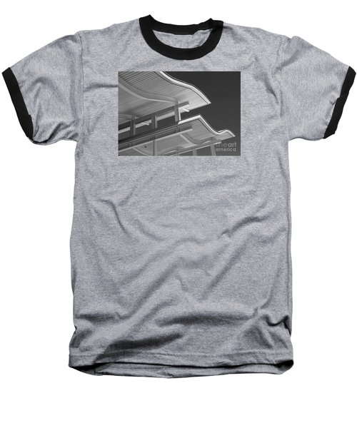 Structure Abstract 6 Baseball T-Shirt by Cheryl Del Toro