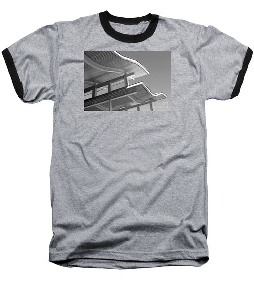 Structure Abstract 7 Baseball T-Shirt by Cheryl Del Toro