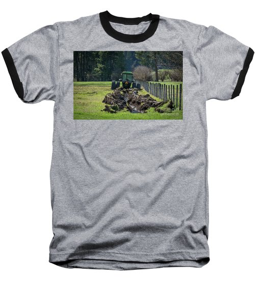 Stuck In The Muck Agriculture Art By Kaylyn Franks Baseball T-Shirt
