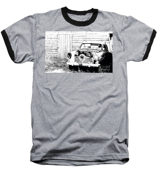 Studebaker Black And White Baseball T-Shirt