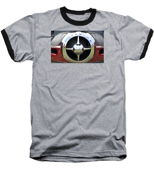 Baseball T-Shirt featuring the photograph Studebaker Chrome by Glenn Gordon