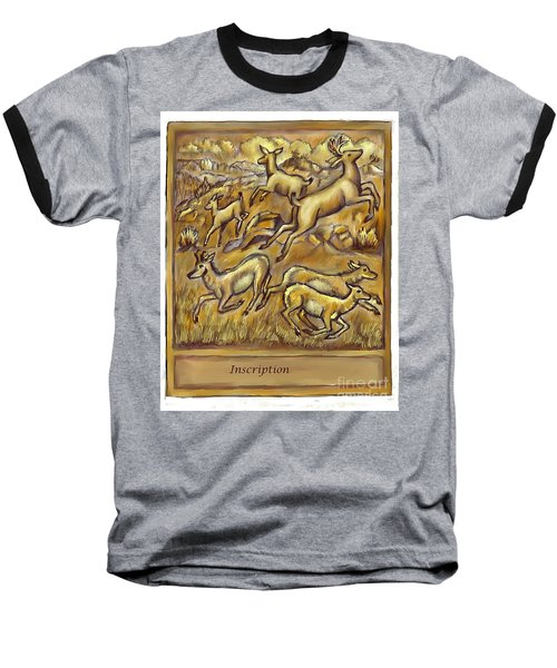 Study For Pronghorn And Deer Sculpture Baseball T-Shirt by Dawn Senior-Trask