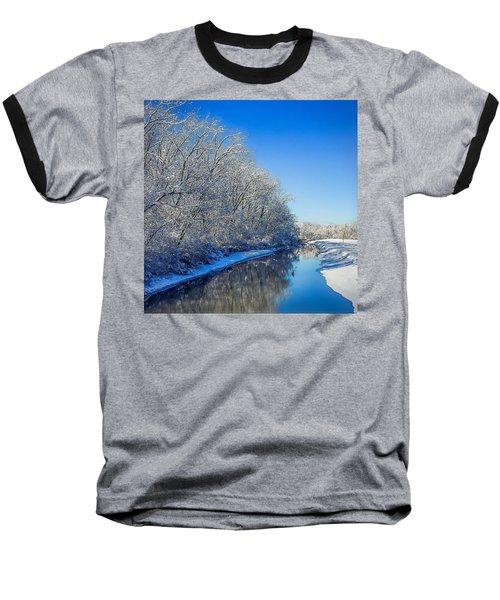 Study In Blue Baseball T-Shirt