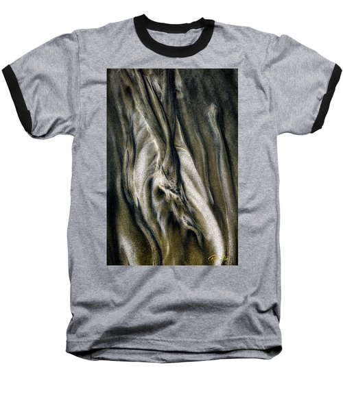 Baseball T-Shirt featuring the photograph Study In Brown Abstract Sands by Rikk Flohr