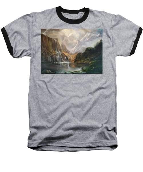 Baseball T-Shirt featuring the painting Study In Nature by Donna Tucker
