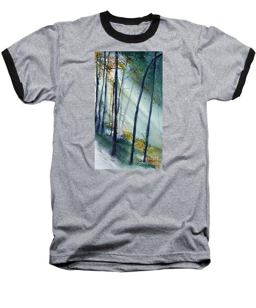 Study The Trees Baseball T-Shirt by Allison Ashton