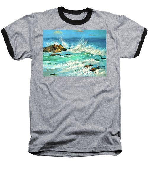 Baseball T-Shirt featuring the painting Study Wave by Dmitry Spiros