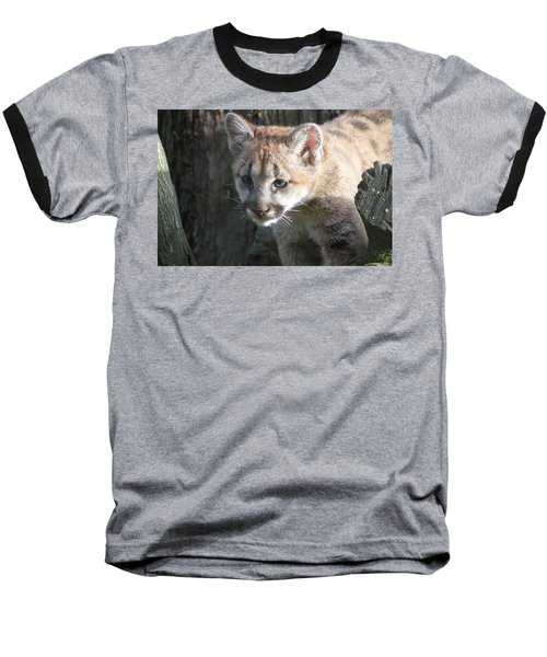 Baseball T-Shirt featuring the photograph Studying The Ways by Laddie Halupa